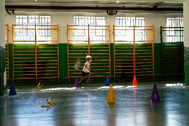 Alumno haciendo deporte